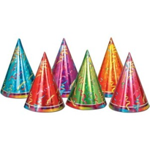 Plain party hats can be turned into student awards!