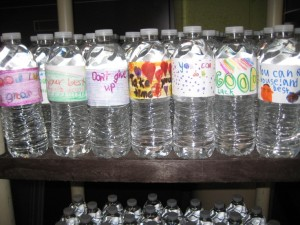 Have students from another class create these motivational water bottles.