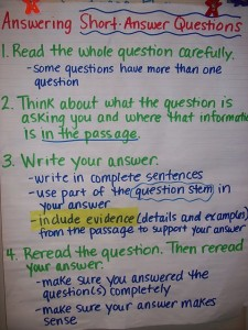 Give your students the steps they need to construct a meaningful answer.