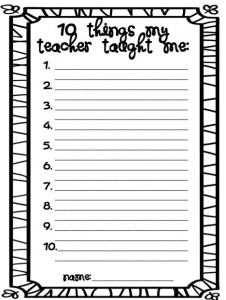 A list like this will give you a good idea on which lessons/units resonated with your students.