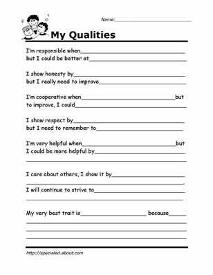 Worksheets Self Esteem Worksheets For Adults positive self esteem worksheets intrepidpath empower students with these activities my everyday