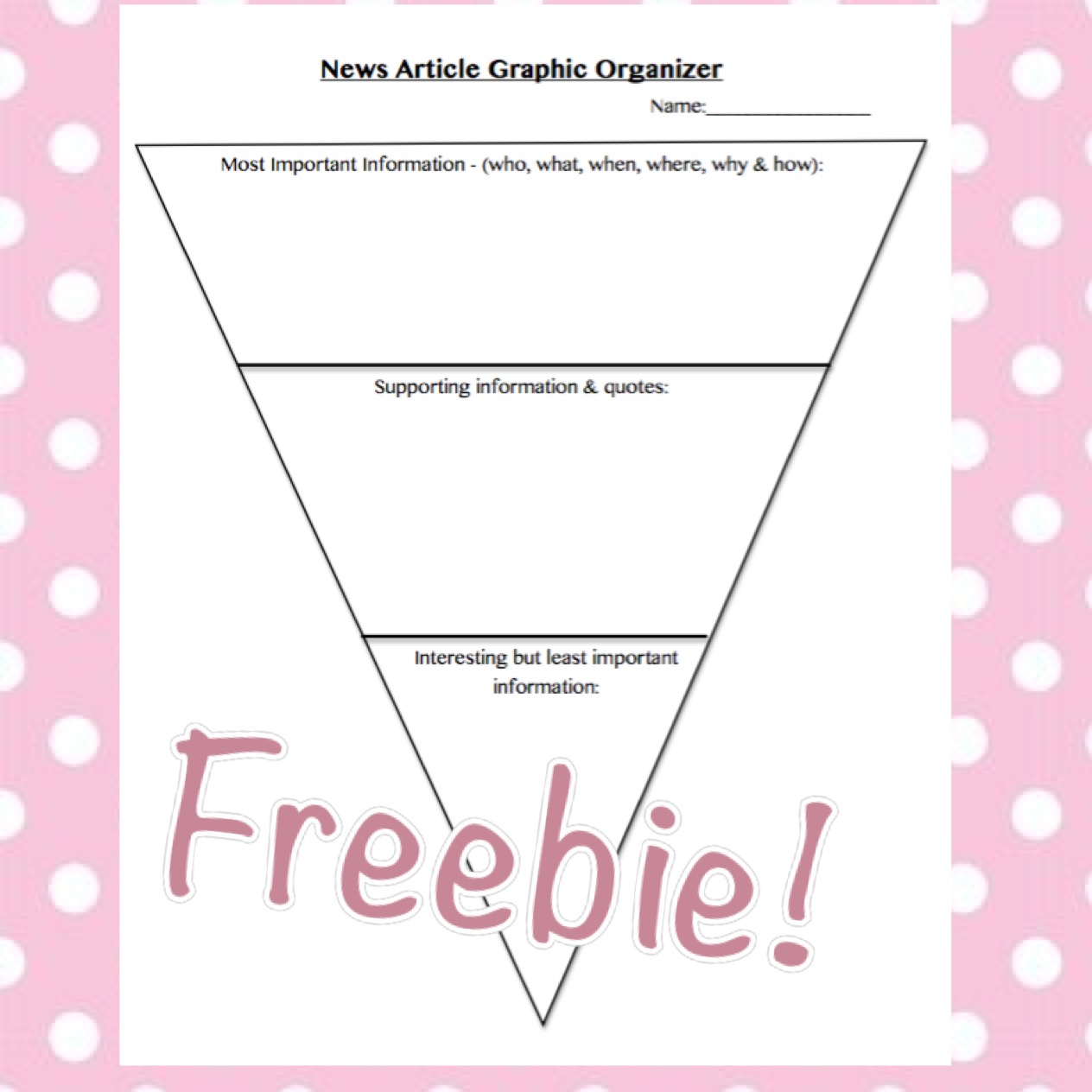 This news article graphic organizer is great for students to map their thoughts and plan their writing.