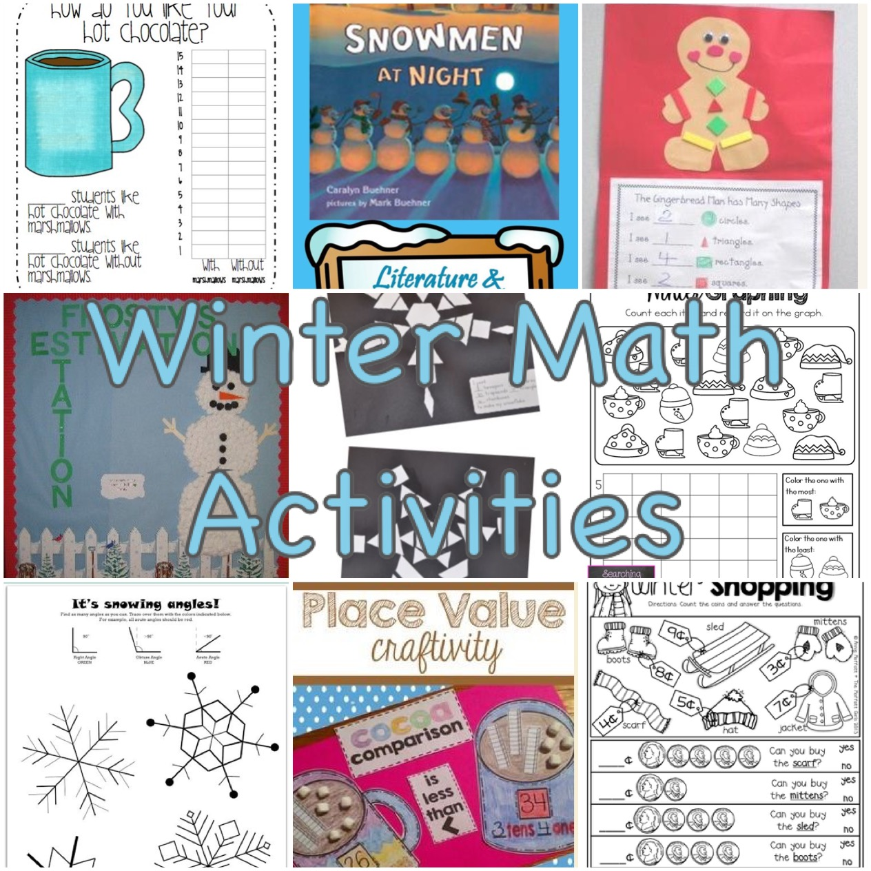 A great list of winter math activities you must try. Let's incorporate the winter spirit as much as we can to enrich our classrooms and homes.