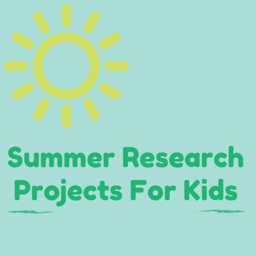A list of summer research projects for kids that will have kids enjoying their summer even more!