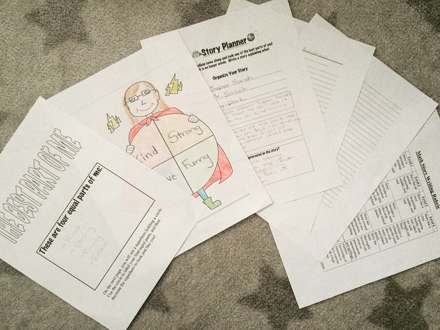 This fun fractions writing activity will boost your students' self esteem.