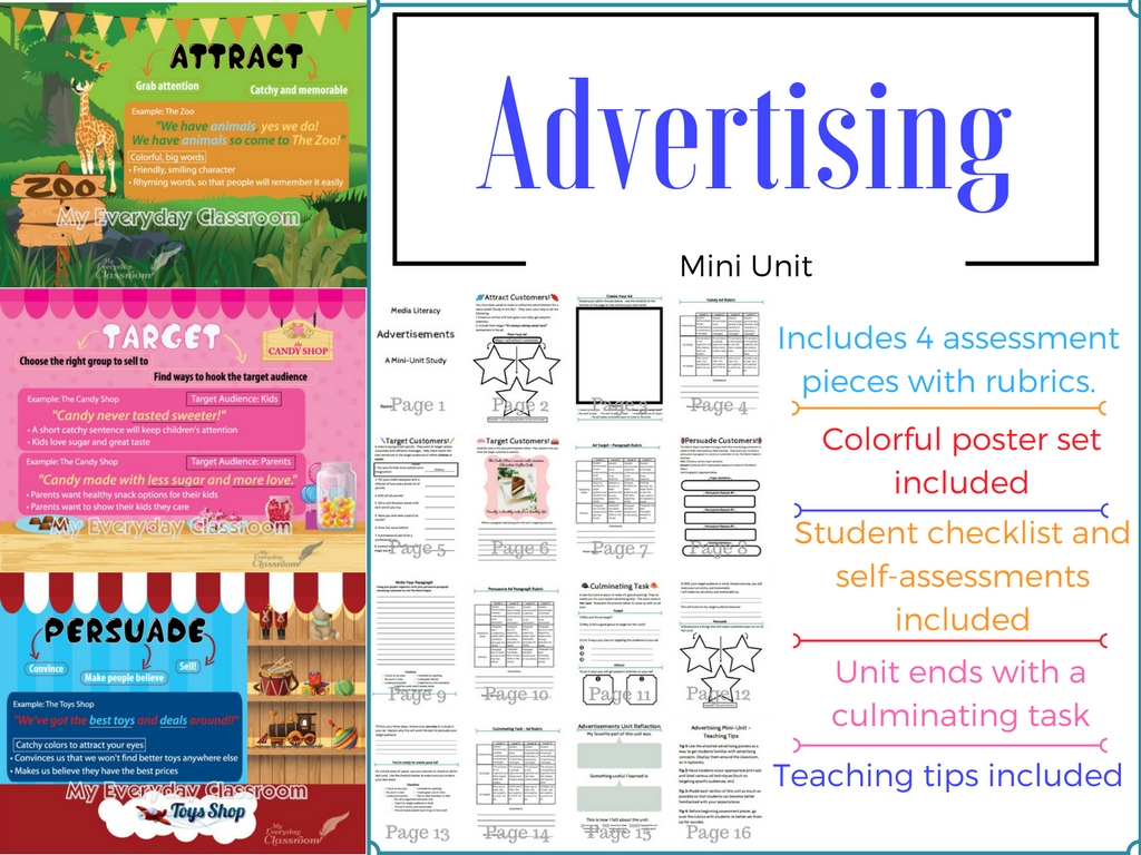 Advertising Unit & Poster Set - My Everyday Classroom