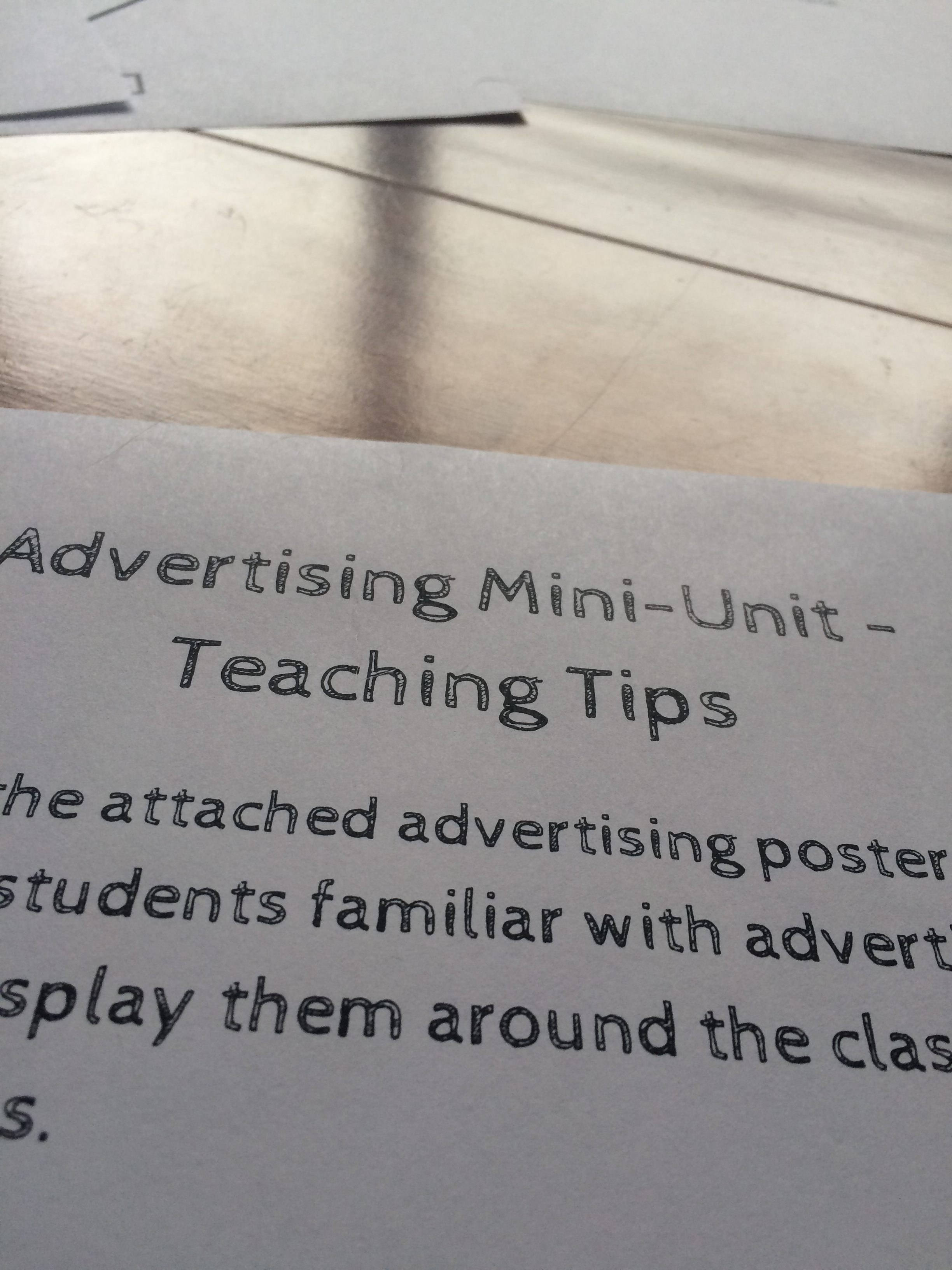 In this advertising unit, students will be asked to identify and create their own techniques in a series of wonderful activities. This unit includes graphic organizers, checklists, rubrics, teaching tips, self assessments and more. Also included is a colorful and engaging poster set about the purpose of advertisements.
