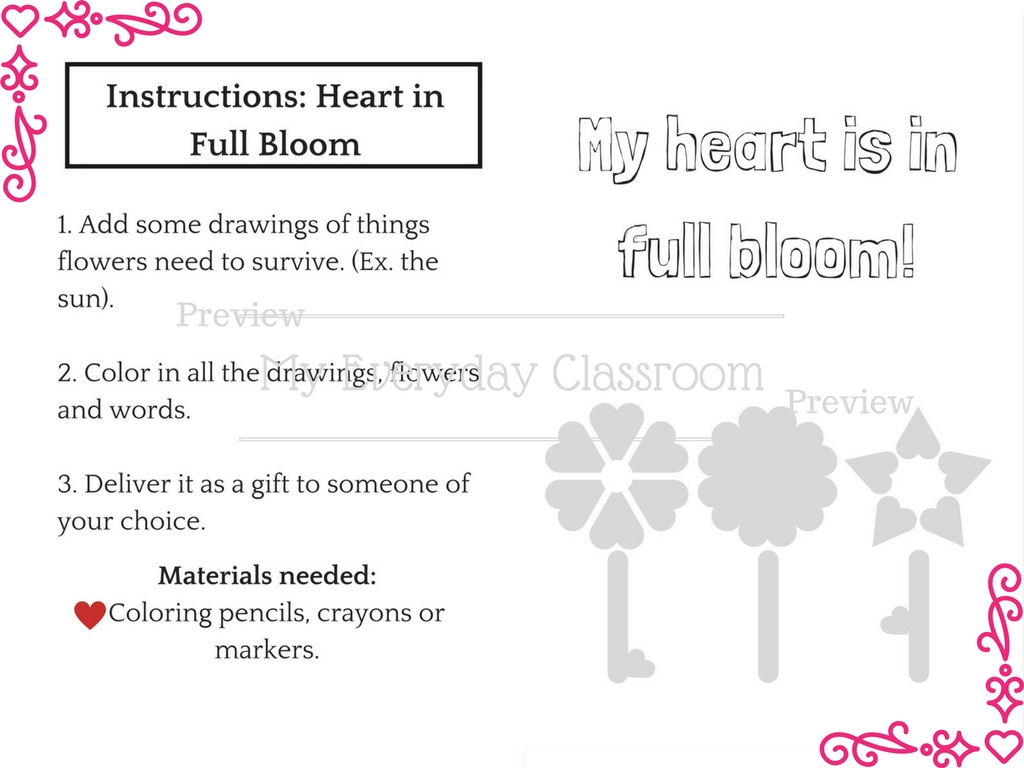 An adorable, lovey-dovey Valentine's Day center activities package! Receive 6 fun center activities ranging in curriculum topics such as: Math, Science, Writing and Art. Each center activity comes with it's own instruction page, for absolute clarity. Your class will love showing their Valentine's Day spirit, while still learning with these creative activities.