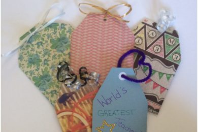 The perfect DIY craft for teacher appreciation week: personalized gift card holders!